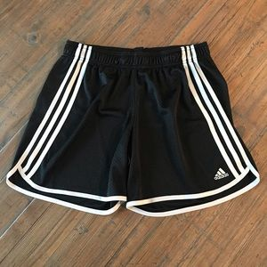 Adidas M black and white athletic shorts